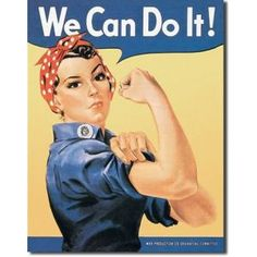 We Can Do It Tin SignFun wall décorGreat for college dorm walls, b...