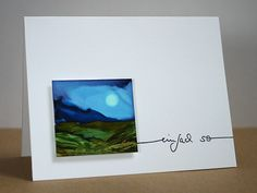 "blog.karten-kunst.de - Malen mit Alcohol Inks XI. Alcohol Inks und Alcohol Ink Blending Solution auf Lanavanguard. Karten-Kunst Clear Stamp Set – Schriftzug ""einfach so"""