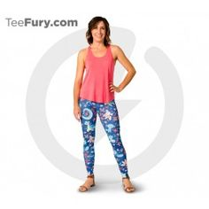 """The Wave Riders leggings are made of high quality polyester and spandex for the best style and comfort. Come out of your shell and """"sea"""" how your style evolves in these Wave Riders leggings. About These Leggings:- Made in the USA- Model is wearing size Medium- Height - 5'2"""" 