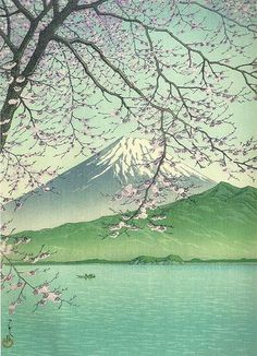 """1937. Kawase Hasui 1937 (1833-1957) was a prominent Japanese painter of the late 19th and early 20th centuries, and one of the chief printmakers in the shin-hanga (""""new prints"""") movement. In the West, Kawase is mainly known as a Japanese woodblock printmaker. He and Hiroshi Yoshida are widely regarded as two of the greatest artists of the shin-hanga style, and are known especially for their landscape prints."""