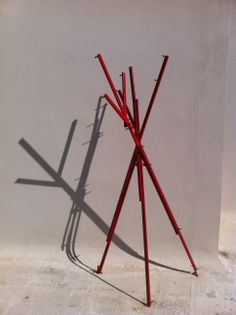 """Outdoor floor hanger by G. """"Public Space Hanger: an alternative way of exchanging goods, a way of contribution to a society in crisis like greek society is today"""". Outdoor Furniture Design, Outdoor Flooring, Hanger, Alternative, Greek, Public, Indoor, Space, Handmade"""