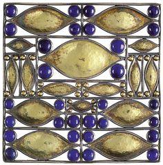 Brooch silver with Lapis lazuli, Josef Hoffmann (1870-1956). For Wiener Werkstätte, 1907. www.silvercollect...