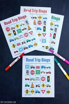 Free Travel Bingo Printable + Road Trip Essentials!