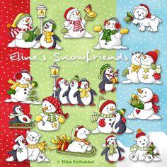 Eline's Digital ClipArt Set – Snowfriends