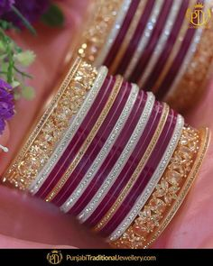 We treat your Big Day like ours. Crafting something for a bride needs some additional vision for the details and elegance. Be a PTJ Bride. Leave your grand day to us! featured:- American Diamond Purple Color Bridal Chura Shop our latest collection at our store or visit our website today to buy.. You may also DM us OR contact us at 91 9914721111 to buy. Image copyright 2k18 Punjabi Traditional Jewellery WORLDWIDE SHIPPING AVAILABLE Free Shipping in India Cash on delivery available for Silk Bangles, Bridal Bangles, Thread Bangles, Silver Bracelets, Chuda Bangles, Punjabi Traditional Jewellery, Bridal Chuda, Gold Earrings Designs, Bangle Set