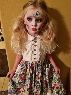 da9e5277b Cracked Doll - 2015 Halloween Costume Contest via  costume works Scary Kids Halloween  Costumes