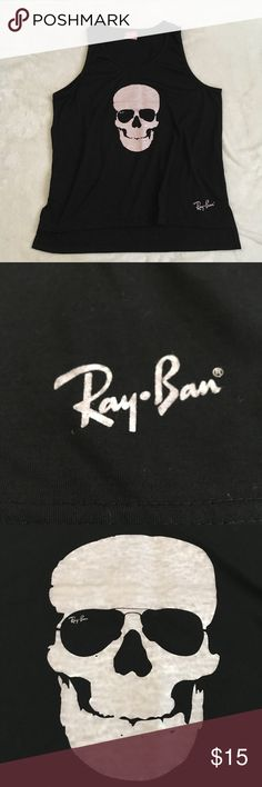 Ray-ban mens skull tank Size S. In perfect condition Ray-Ban Shirts Tank Tops