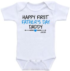 First Father's Day Happy 1st Father's Day by createmeatshirt #father's #day #onesie #gift #shirt #newborn