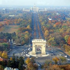 """Fall, in Bucharest - Bucharest was once known as the """"Little Paris"""". Oh The Places You'll Go, Places To Travel, Travel Destinations, Places To Visit, Wonderful Places, Beautiful Places, Romania Travel, Romania Tourism, Little Paris"""