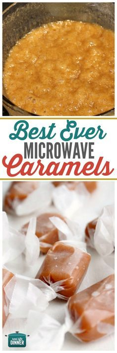 Best Ever Microwave Caramels Recipe - (reallifedinner) Caramel Recipes, Fudge Recipes, Candy Recipes, Sweet Recipes, Holiday Recipes, Christmas Recipes, Microwave Caramels, Microwave Recipes, Cooking Recipes
