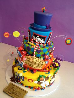 Charlie and the Chocolate Factory Willy Wonka Cake