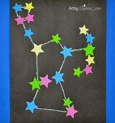 Glow-in-the-dark Constellation Craft. Awesome space activitiy for kids!