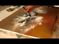 Démonstration peinture abstraite (8) - Abstract painting - Althea - YouTube