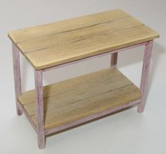 Distressing Wood - Final Part - Make your own distressed dolls house table | Features | Collectors Club of Great Britain