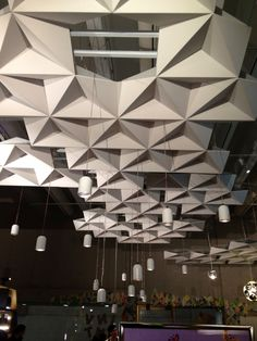 Lighting + ceiling treatment. QLD museum.