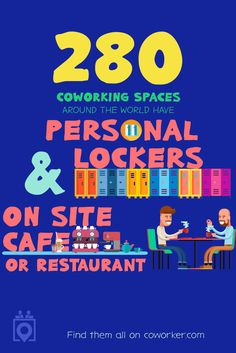 Did you know that Coworker.com has hundreds of coworking spaces with an onsite cafe and personal lockers? Reserve your spot today on Coworker.com |Coworking Restaurant