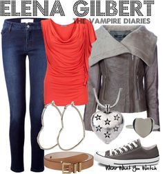 Inspired by character Elena Gilbert played by Nina Dobrev in The Vampire Diaries.