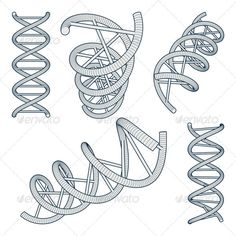 DNA Symbols Set Set of DNA Symbols on White Background. Vector Illustration Created: GraphicsFilesIncluded: VectorEPS Layered: Yes MinimumAdobeCSVersion: CS Tags: biology Spiral Drawing, Dna Drawing, Dna Tattoo, Dna Design, Sibling Tattoos, Medical Design, Medical Illustration, Celtic Knot, Green Eyes