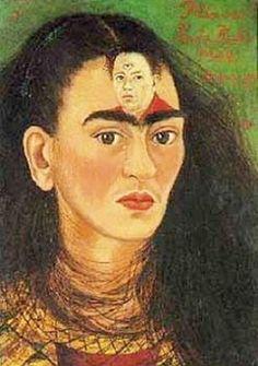 Frida Kahlo, Diego and I, 1949, Oil on Canvas, Mounted on Masonite