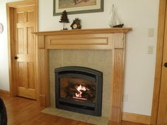TALL BOTTOM PANEL  custom surround panel gas fireplace - Google Search