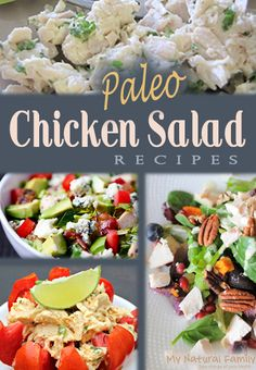 These are the Best Paleo Side Dishes including Vegetables, Fruits & Salads. They will all go so well with any of your favorite Paleo main dish recipes. Paleo Chicken Salad, Paleo Chicken Recipes, Whole Food Recipes, Diet Recipes, Cooking Recipes, Healthy Recipes, Chicken Salads, Recipe Chicken, Paleo Ideas