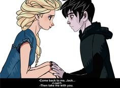 Elsa will love Jack even if he's fear itself. Jelsa, Jake Frost, Disney Ships, Gravity Falls Comics, Jack Frost And Elsa, Disney Theory, Disney Facts, Disney Jokes, Rise Of The Guardians
