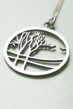 Sterling Silver Tree hand pierced Pendant. by Natasha Wood Jewellery