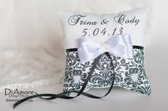 Hey, I found this really awesome Etsy listing at https://www.etsy.com/listing/128320691/damask-black-and-white-ring-bearer