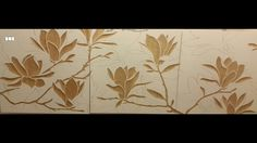 Picturesque engraved wood wall art