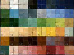 Various colours of zellige tiles. Source: Emery et Cie
