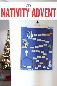 Keep Christ in Christmas with this DIY Nativity Advent Calendar. Click for the simple directions.