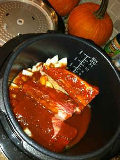 I'm all about my new Living Well Pressure Cooker. I have 4 recipes that I am making this week using it and am SO READY to test them all out. Last night, my cousin came over for dinner and a movie (Woman in Black – complete waste of time) and we all got busy in the kitchen. Here's our recipe for short ribs. Easy Pressure Cooker Recipe: BBQ Short Ribs...