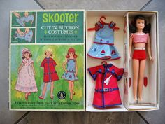 Vintage Barbie Skooter Sears Exclusive Scooter Cut 'n Button Gift Set #1036 HTF   eBay!
