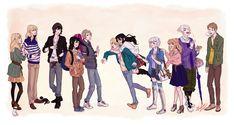 Pandora Hearts - Modern Au by Azeher on DeviantArt Oz Vessalius, Xerxes Break, Heart Never, Group Art, Pandora Hearts, Vanitas, Percy Jackson, Manga Anime, Fan Art