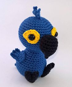 Blue Macaw Amigurumi Pattern  Brazilian Jungle Friends