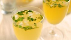 Almond-Ale Spritzer: Almond extract and pale ale join cilantro in a cocktail brightened with fresh squeezed lemon juice andndash; perfect any time of year. Cobbler Topping, Spice Set, Shandy, Green Bean Casserole, How To Squeeze Lemons, Holiday Cocktails, Roasted Garlic, Summer Desserts, Ale