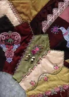 crazy quilting embellishments | ... .com - The worlds first online magazine for Crazy Quilting - Article