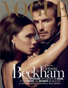 For its December-January 2014 edition, Vogue Paris taps famous husband and wife team Victoria and David Beckham. Victoria Beckham, also serves as the guest editor for the issue.