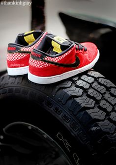 "#Nike SB Dunk Low ""Firecracker""...maybe I can get a pair of these for Father's Day"