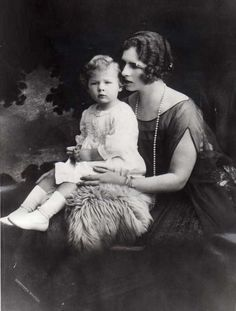 Princess Helen of Greece with her son, Michael.