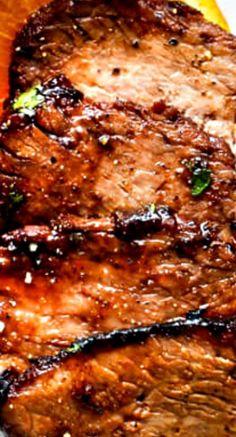 Cajun Steak with Apricot Orange Glaze
