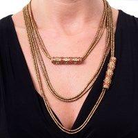 Colar Jaipur Longo Ouro • Monica di Creddo