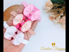 Diy Bow, Diy Hair Bows, Girl Hairstyles, Little Girls, Diy And Crafts, Hair Accessories, Ribbons, Flowers, Braided Headbands