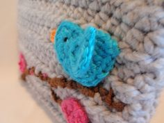 BLUEBIRD with Cherry Blossoms crocheted KINDLE FIRE Sleeve