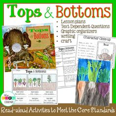"""Teach story elements and character traits with """"Top and Bottoms"""" by Janet Stevens."""