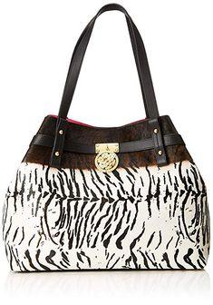 630054014e Guess Peony, Sacs portés épaule femme, Multicolore (Zebra Natural/Zna),