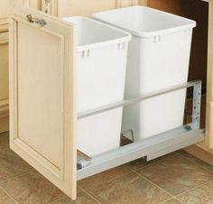Rev-A-Shelf Premiere Double 35-Qt Waste Containers - Kitchen Organization - Storage & Organization - Storage & Display | HomeDecorators.com