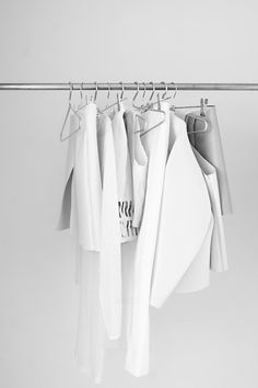 fashion white Clothes bw minimalism simple minimalistic rack