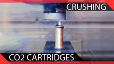 Crushing Cartridges in our Hydraulic Press Crushes, Videos