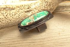 Rustic Large Chrysoprase Copper Statement Ring by annamei on Etsy